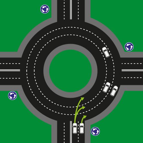 Перехрестя з круговим рухом 1